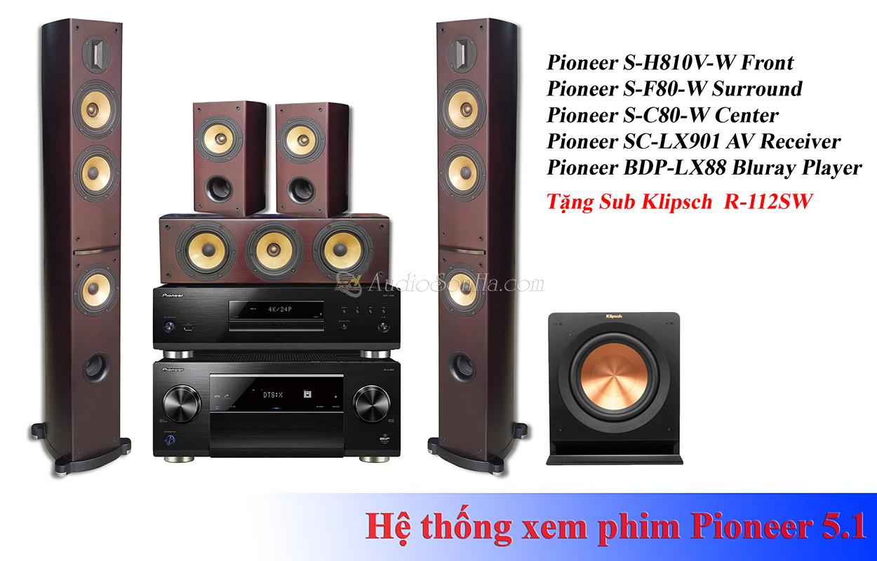 Hệ thống xem phim Pioneer S-H810V (5.1)
