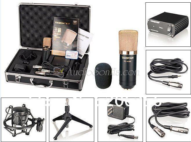 Combo micro thu âm Takstar PC K550