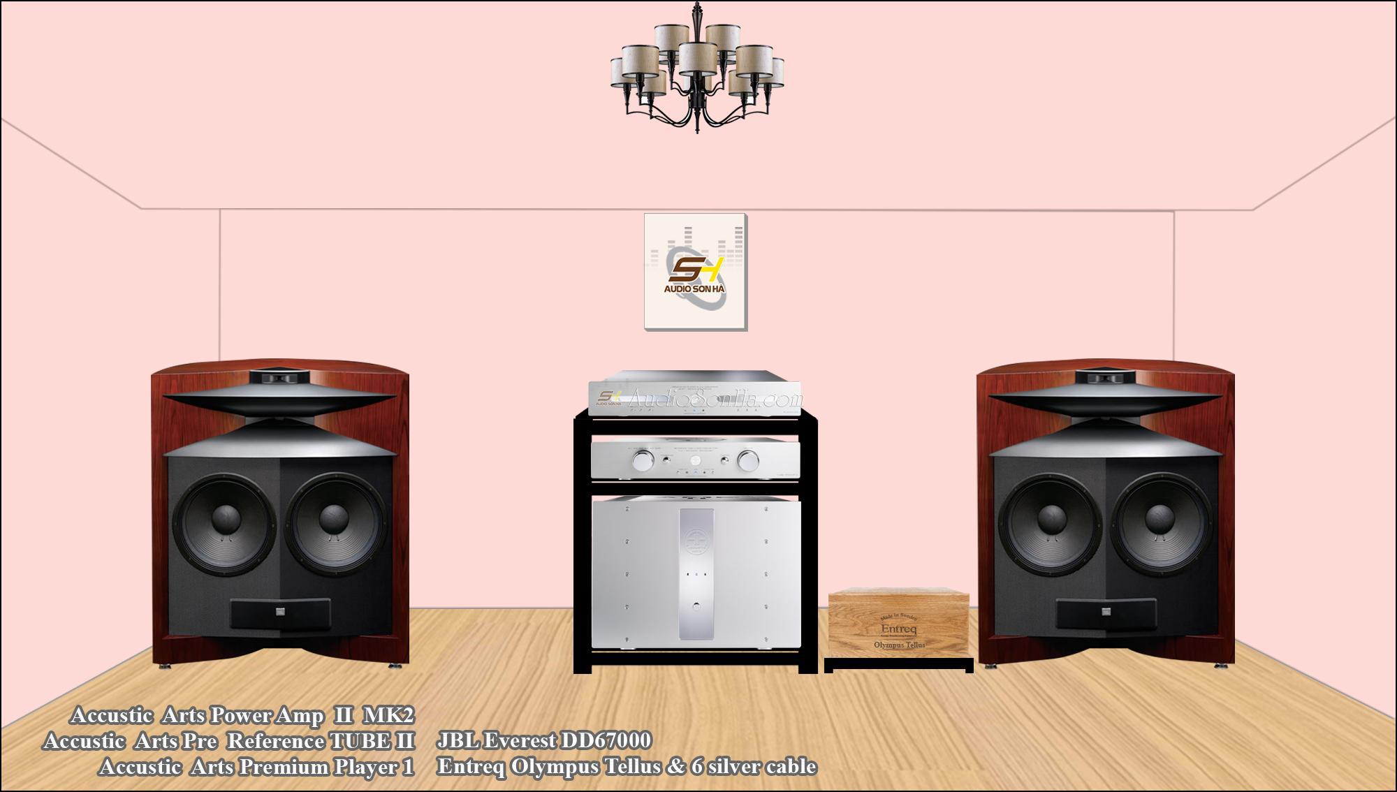 Hệ thống nghe nhạc Accustic Art & JBL 67000