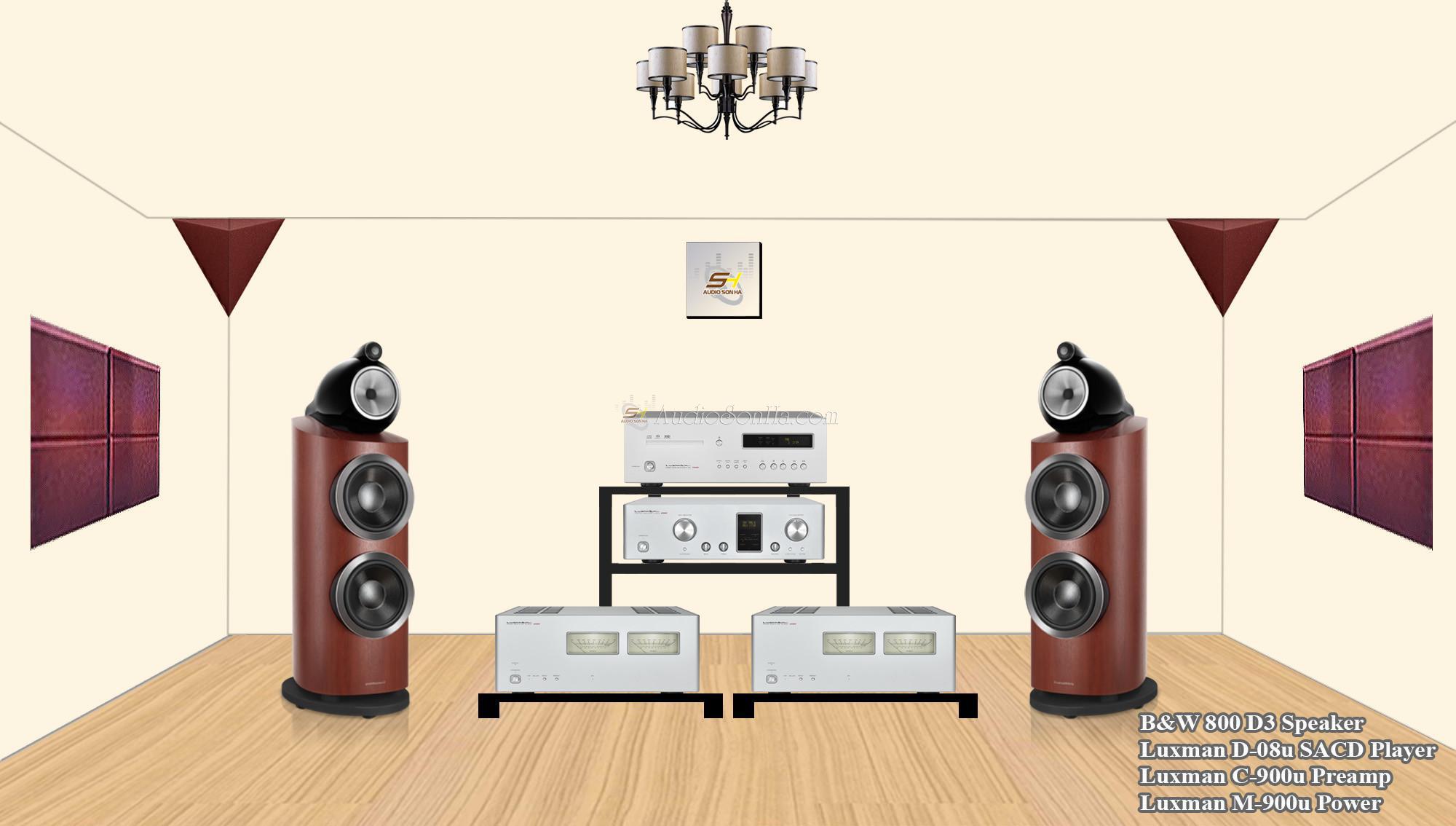 Hệ thống nghe nhạc B&W 800D3 & Luxman