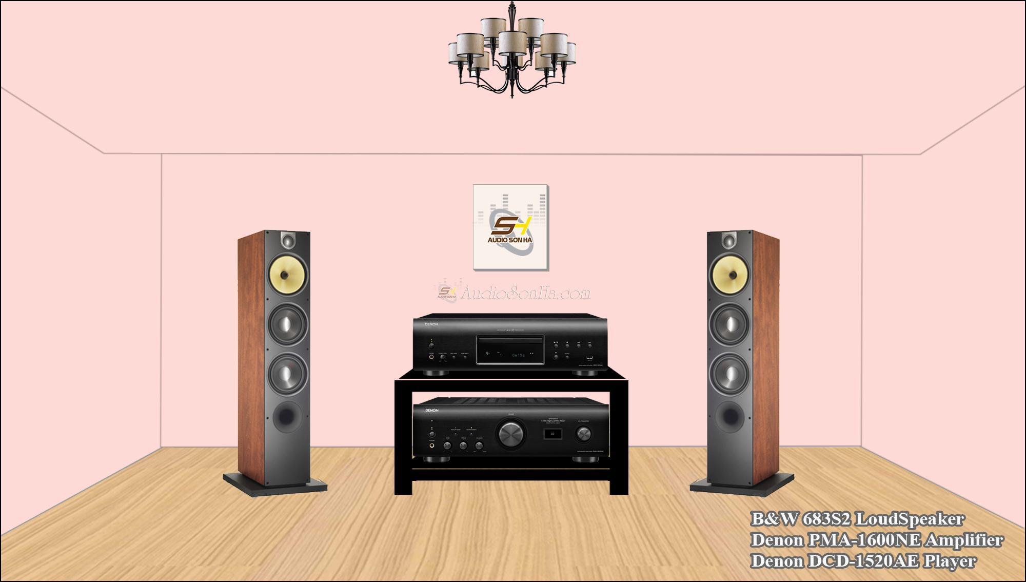 Hệ thống nghe nhạc Denon & B&W 683s2