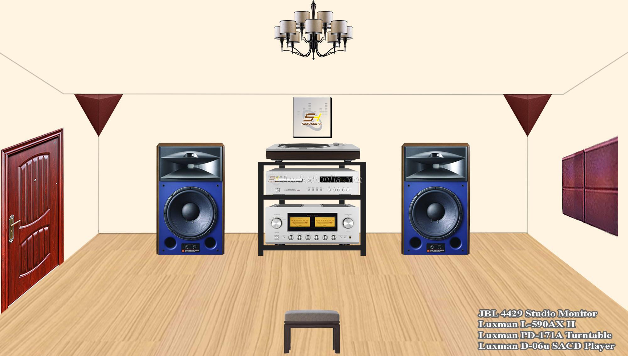 Hệ thống nghe nhạc JBL-4429 & Luxman