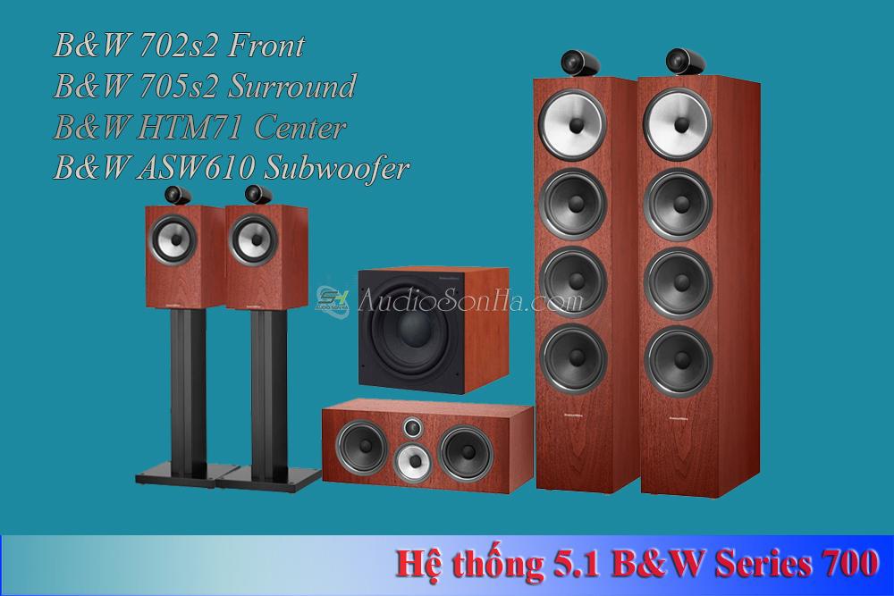 Hệ thống xem phim 5.1 B&W 702 Rosenut