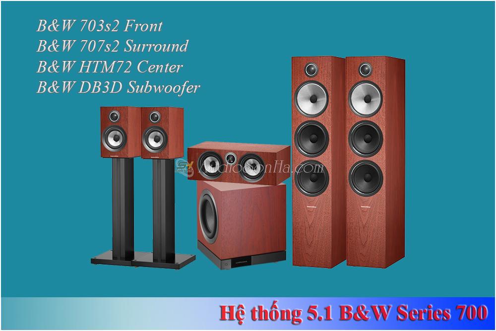 Hệ thống xem phim 5.1 B&W 703 Satin White