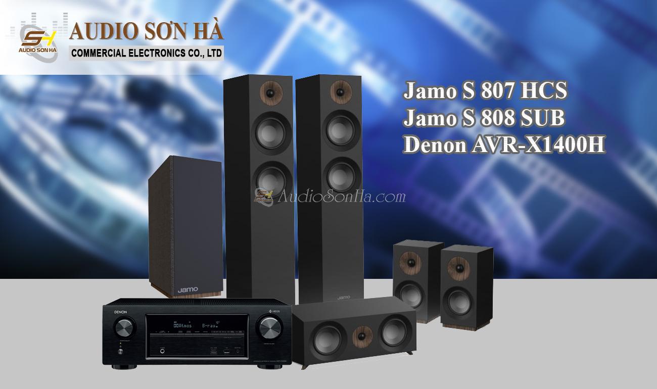 Hệ thống xem phim Jamo S 807 HCS/AVR_ X 1400 H