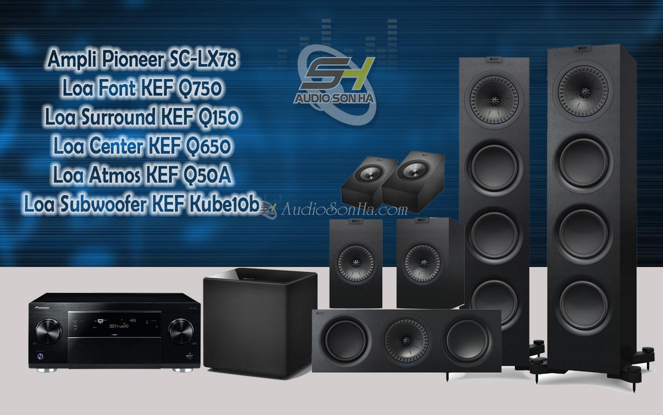 Hệ thống xem phim Pioneer LX78 và KEF Q series