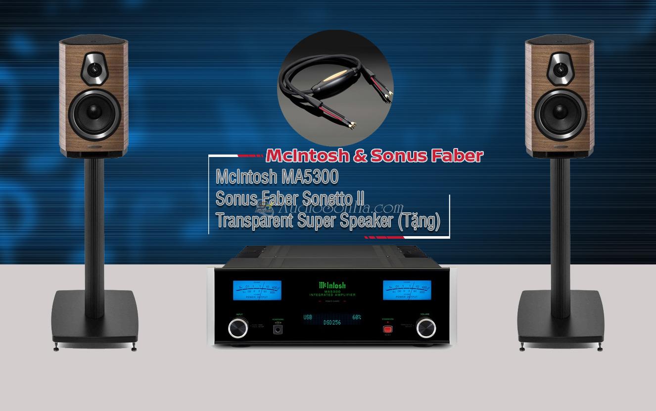 Hệ thống nghe nhạc Mclntosh 5300/ Sonus Faber sonetto II