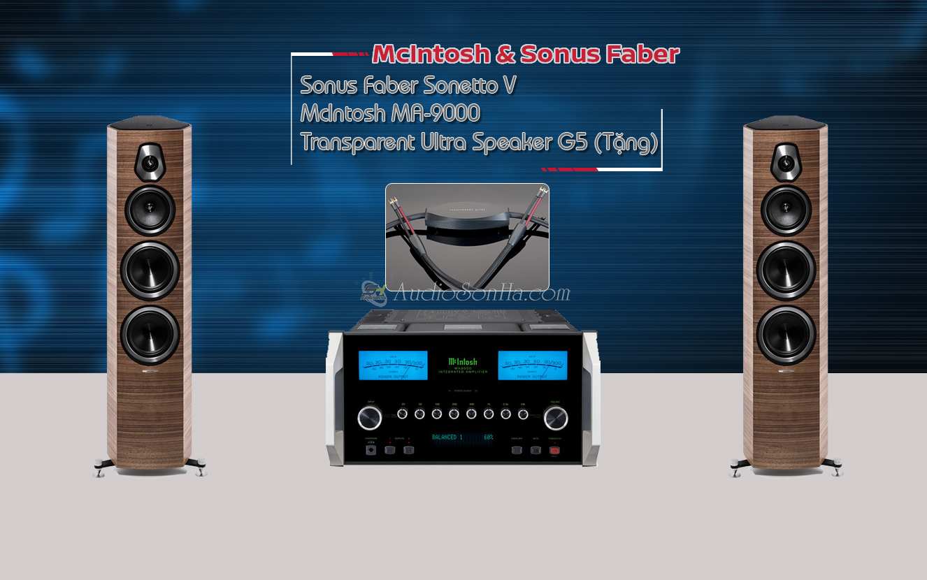 Hệ thống nghe nhạc Mclntosh MA 9000/ Sonus Faber Sonetto V