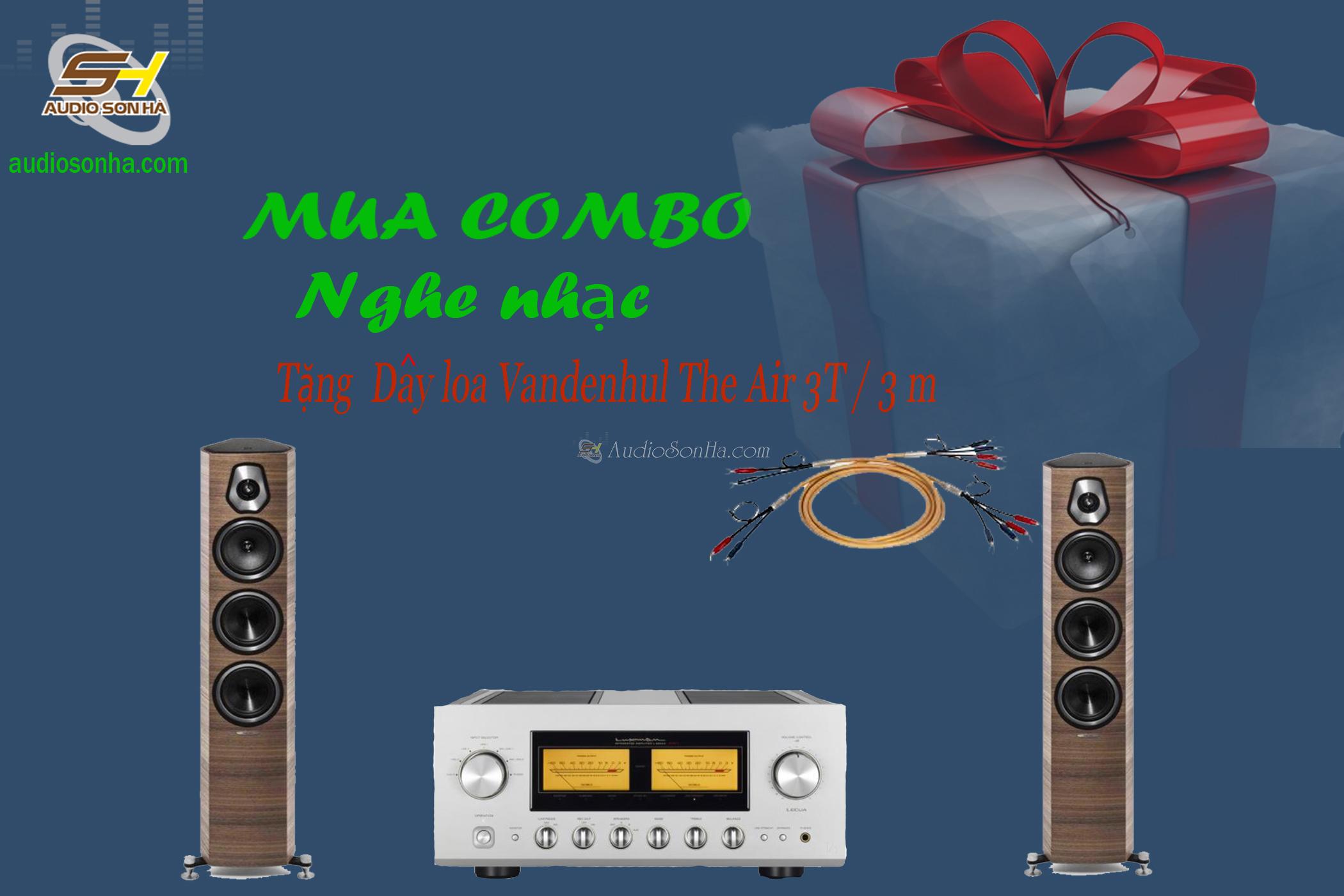 Hệ thống nghe nhạc Amplifier Luxman L-590AX II / Sonus Faber Sonetto III