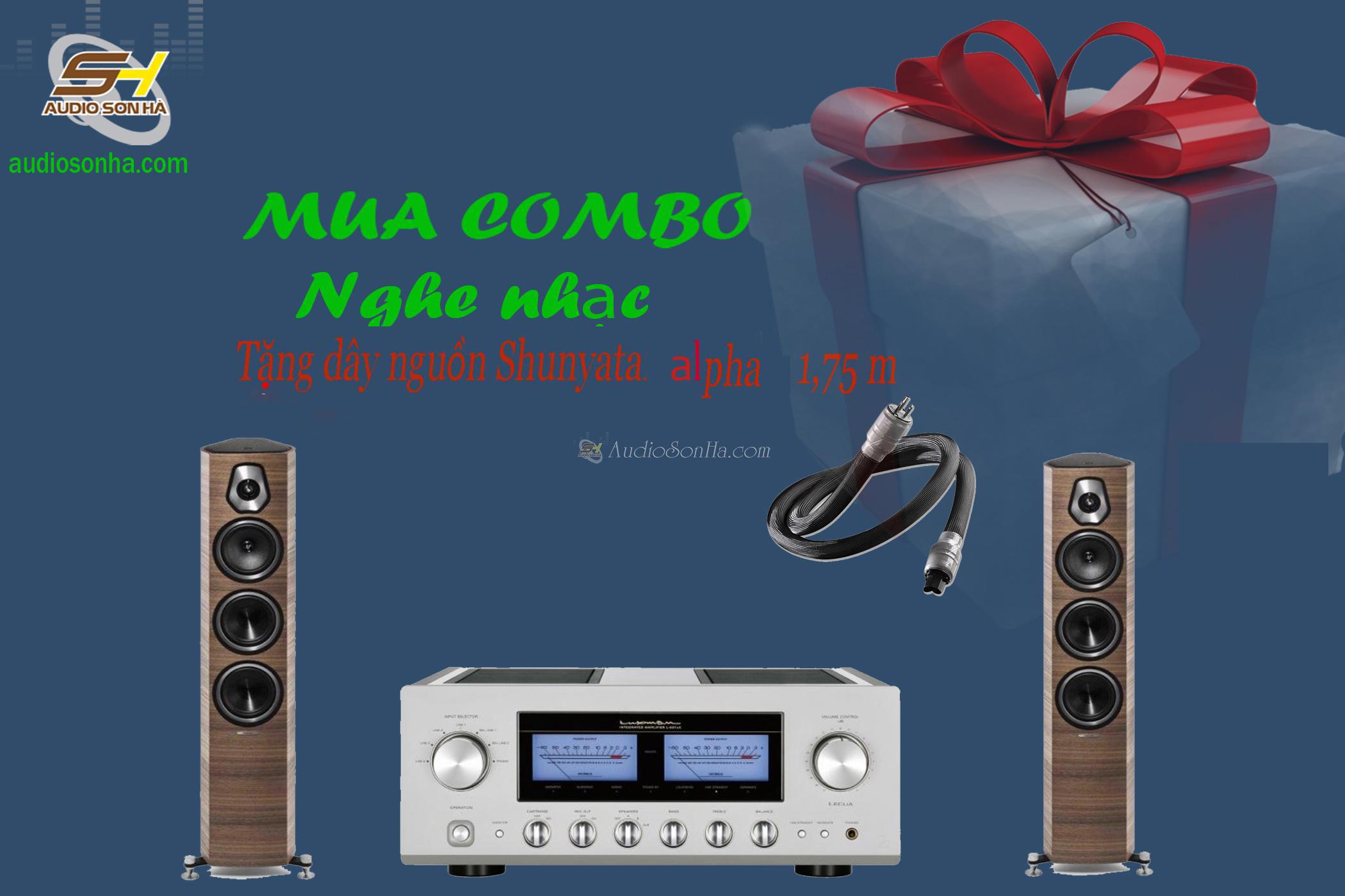 Hệ thống nghe nhạc Amplifier Luxman L- 507UX / Sonus Faber SonettoIII