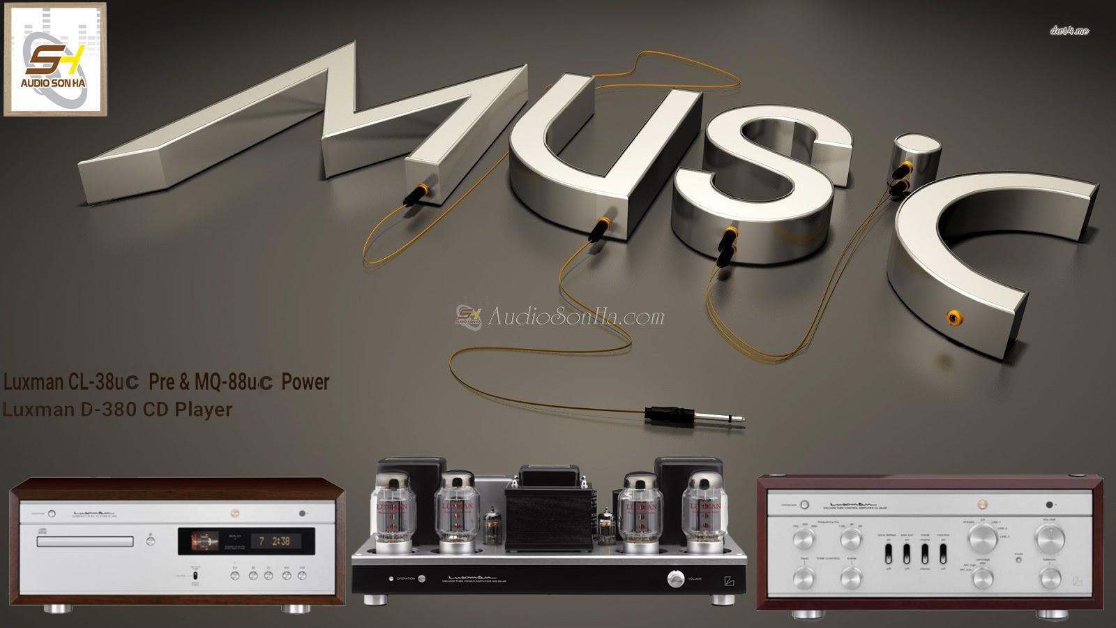 Hệ thống nghe nhạc Luxman CL-38 UC Pre / MQ -88UC Power/Luxman D - 380 CD Play