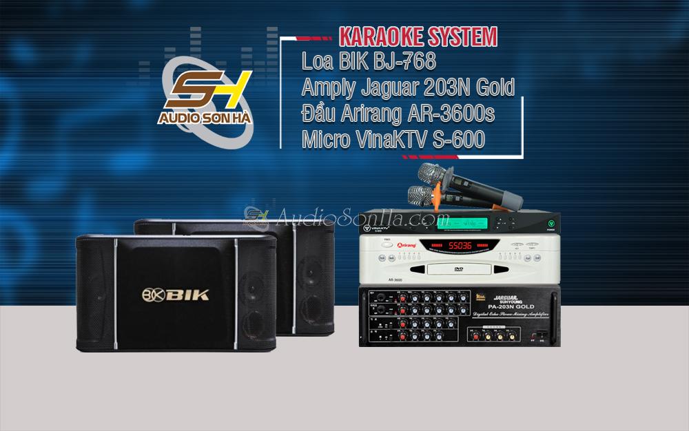 Hệ thống Karaoke BIK 768 & Jaguar 203N Gold