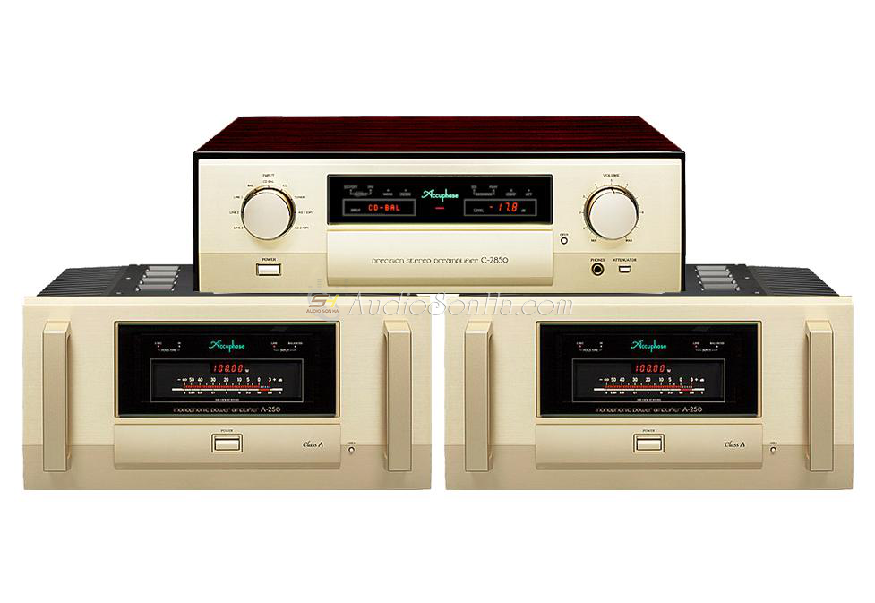 Accuphase Power monoblock A250& preamplifier C2850