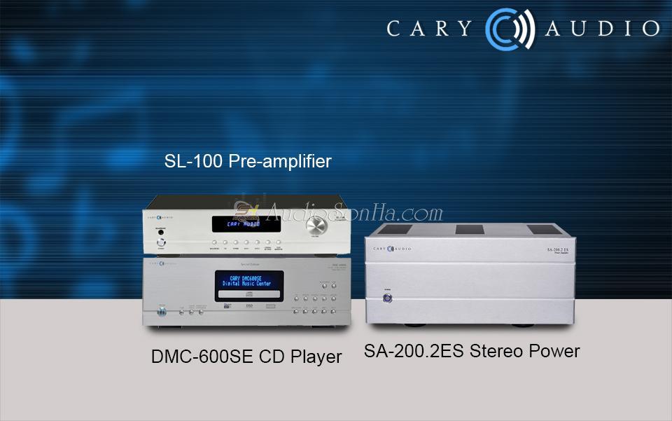 Combo Hi End Cary Audio SA-200.2ES & SL-100