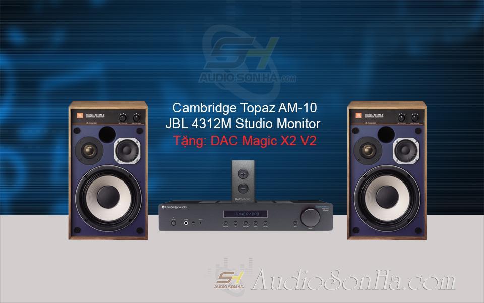 Hệ hống nghe nhạc Cambridge AM10 & JBL4312M