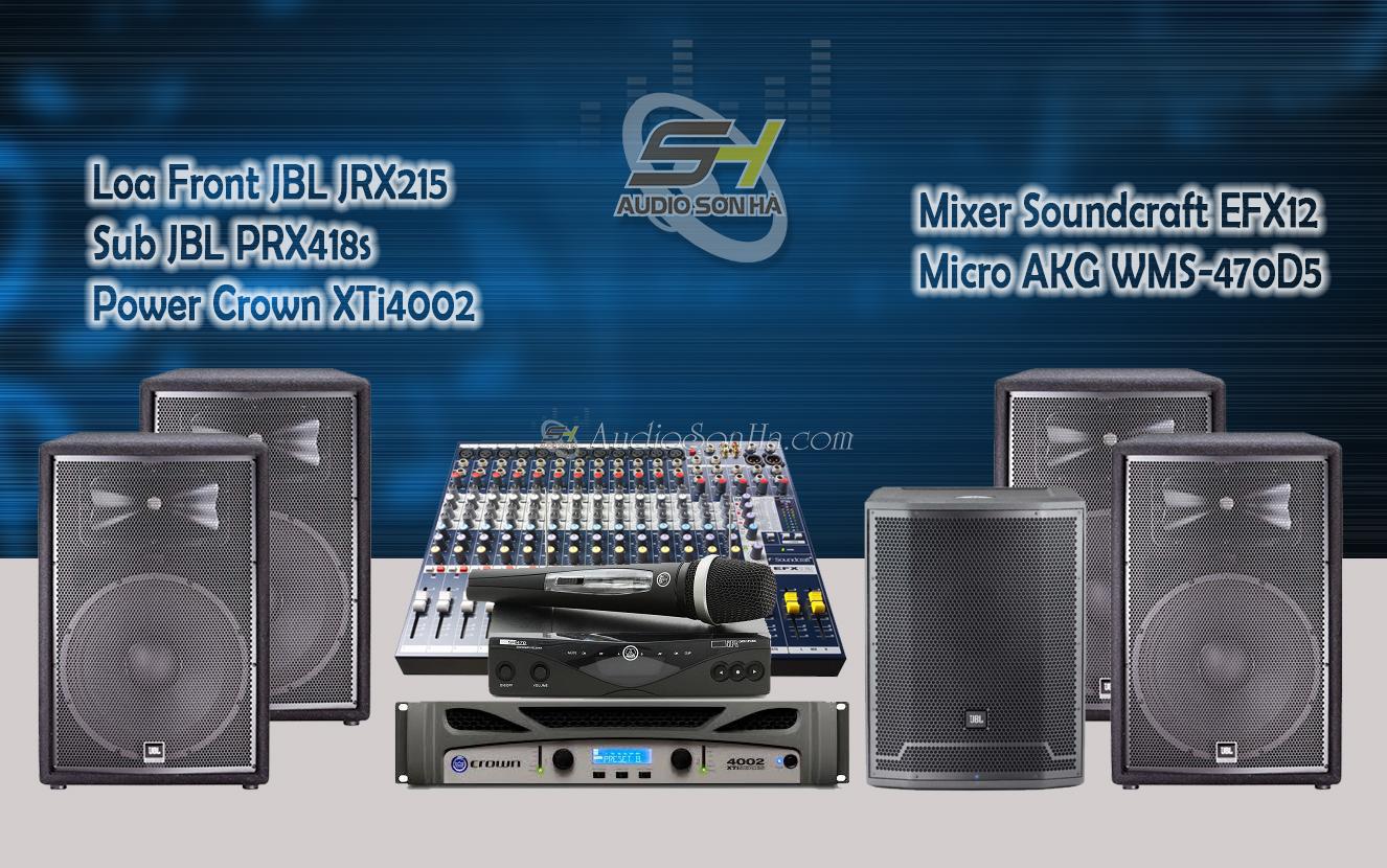 Hệ thống âm thanh sân khấu loa JBL JRX215
