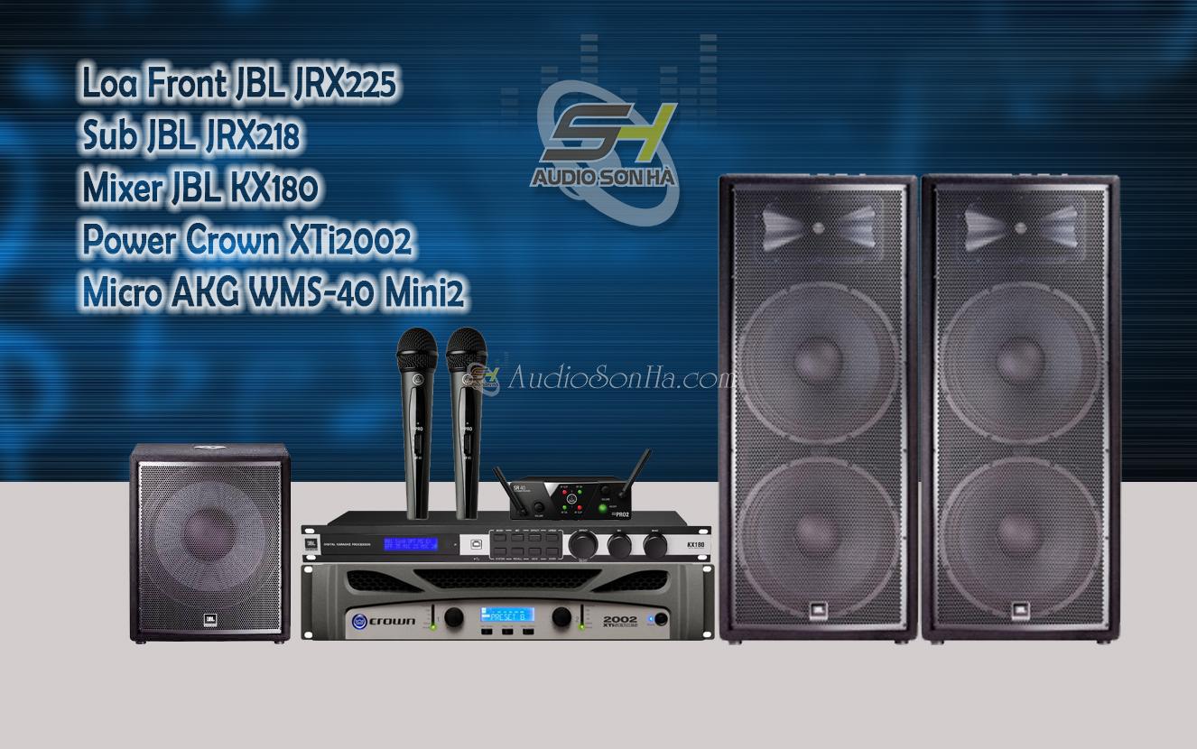 Dàn âm thanh sân khấu loa JBL JRX225 ( Set 16)
