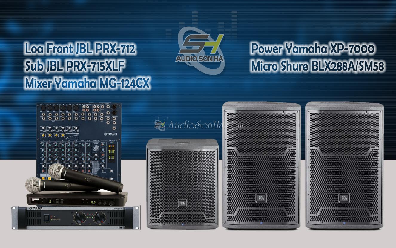 Hệ thống âm thanh sân khấu loa JBL PRX712