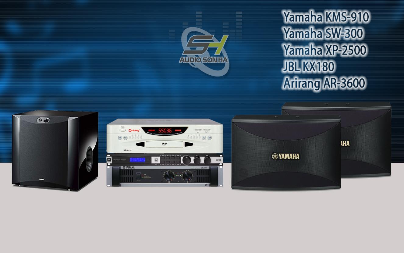 Yamaha KMS 910/Dàn Karaoke cao cấp  & XP2500 ( Set 12)