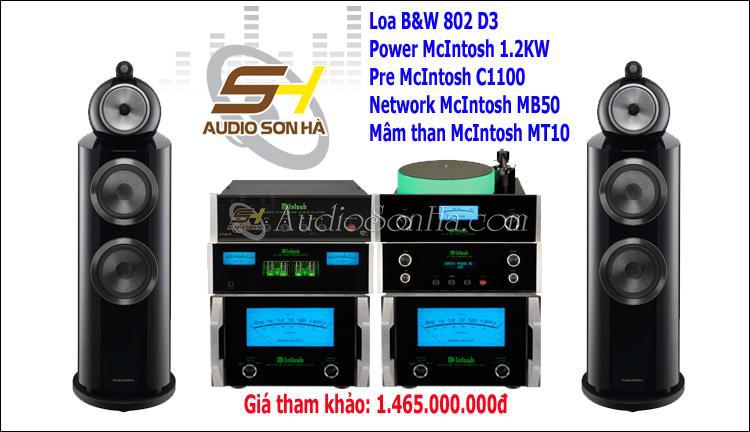 Hệ thống nghe B&W 802 D3 + McIntosh