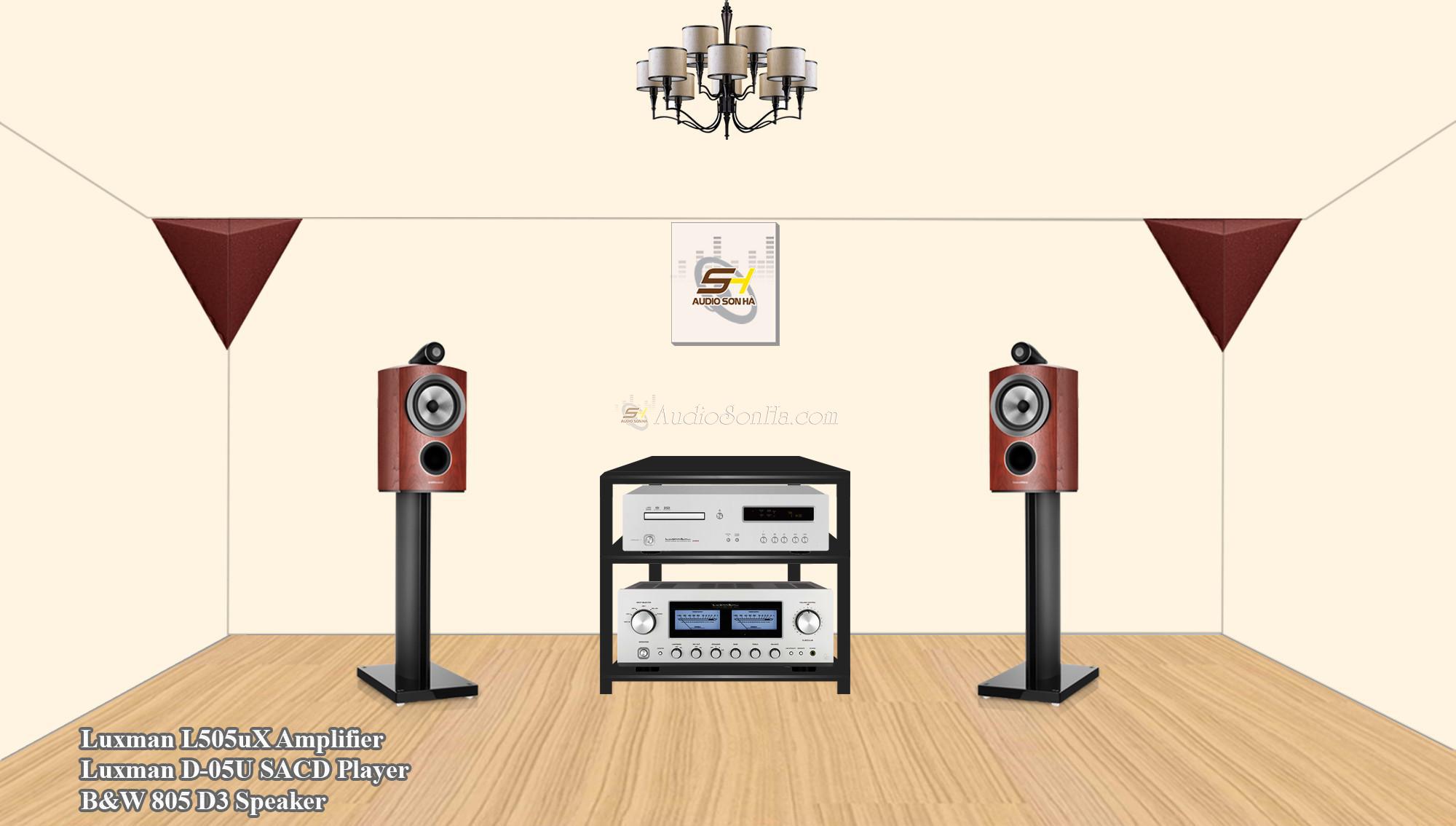 Hệ thống nghe nhạc B&W 805D3 & Luxman