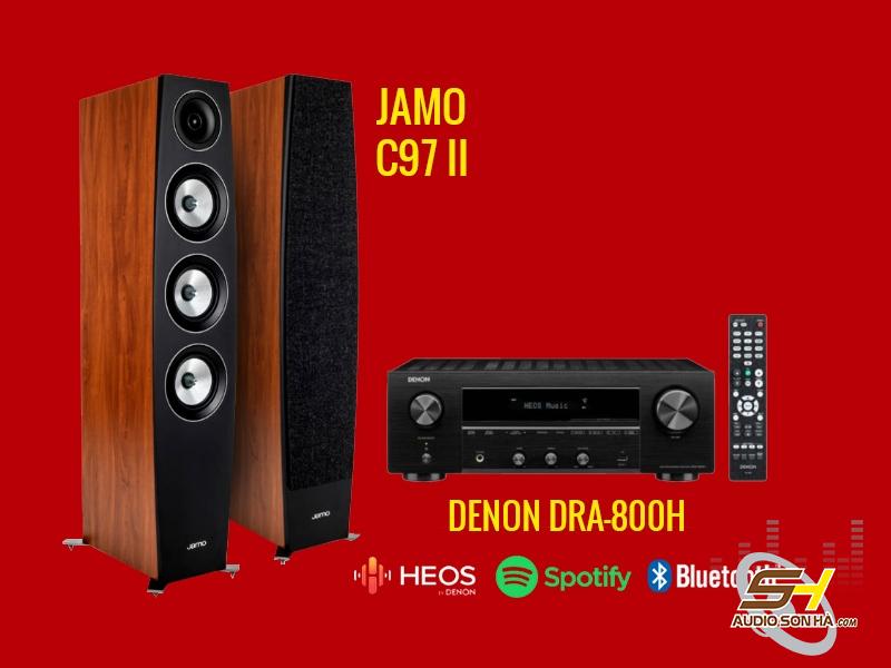 Hệ thống nghe nhạc Denon DRA-800H & loa Jamo C97 II