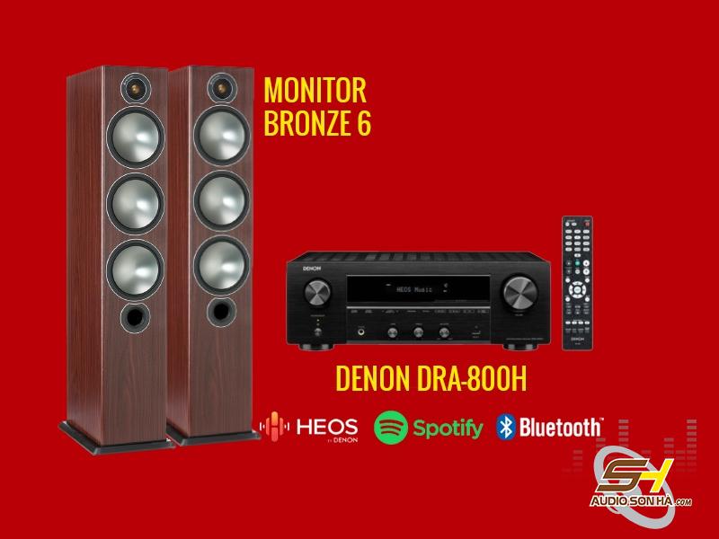 Hệ thống nghe nhạc Denon DRA-800H & loa Monitor Bronze 6