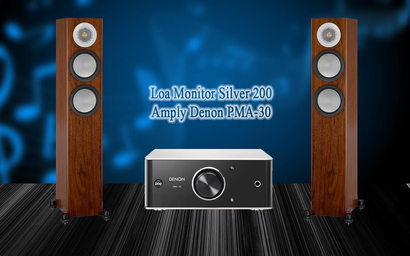 Hệ thống nghe nhạc Denon PMA50 & Monitor Audio Silver 200