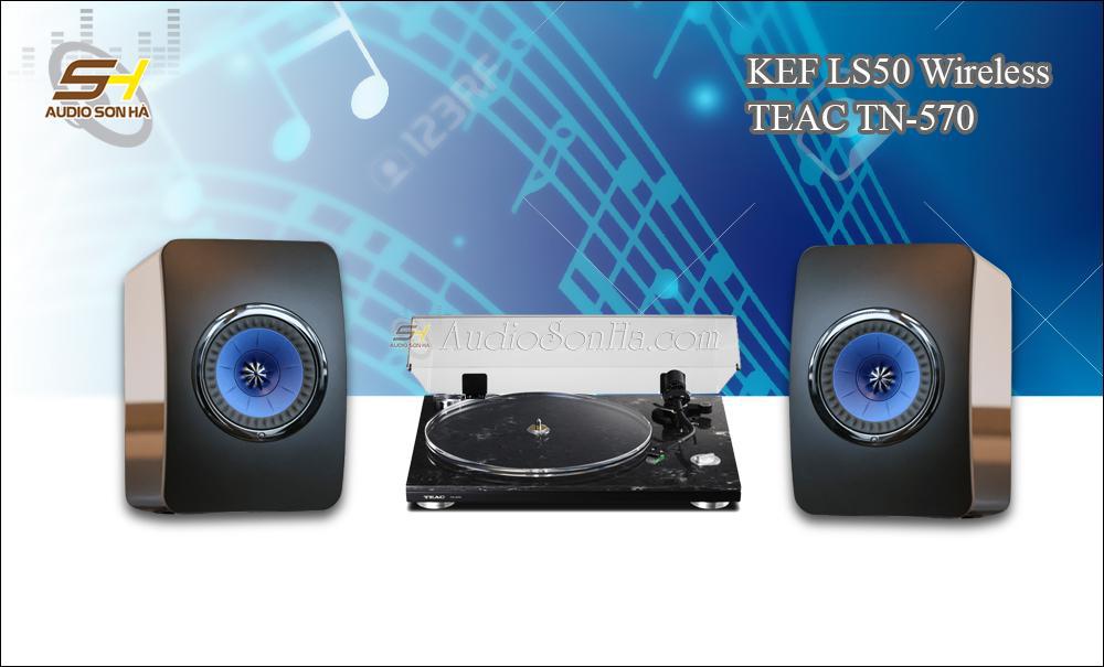 Hệ thống nghe nhạc đĩa than TEAC - KEF