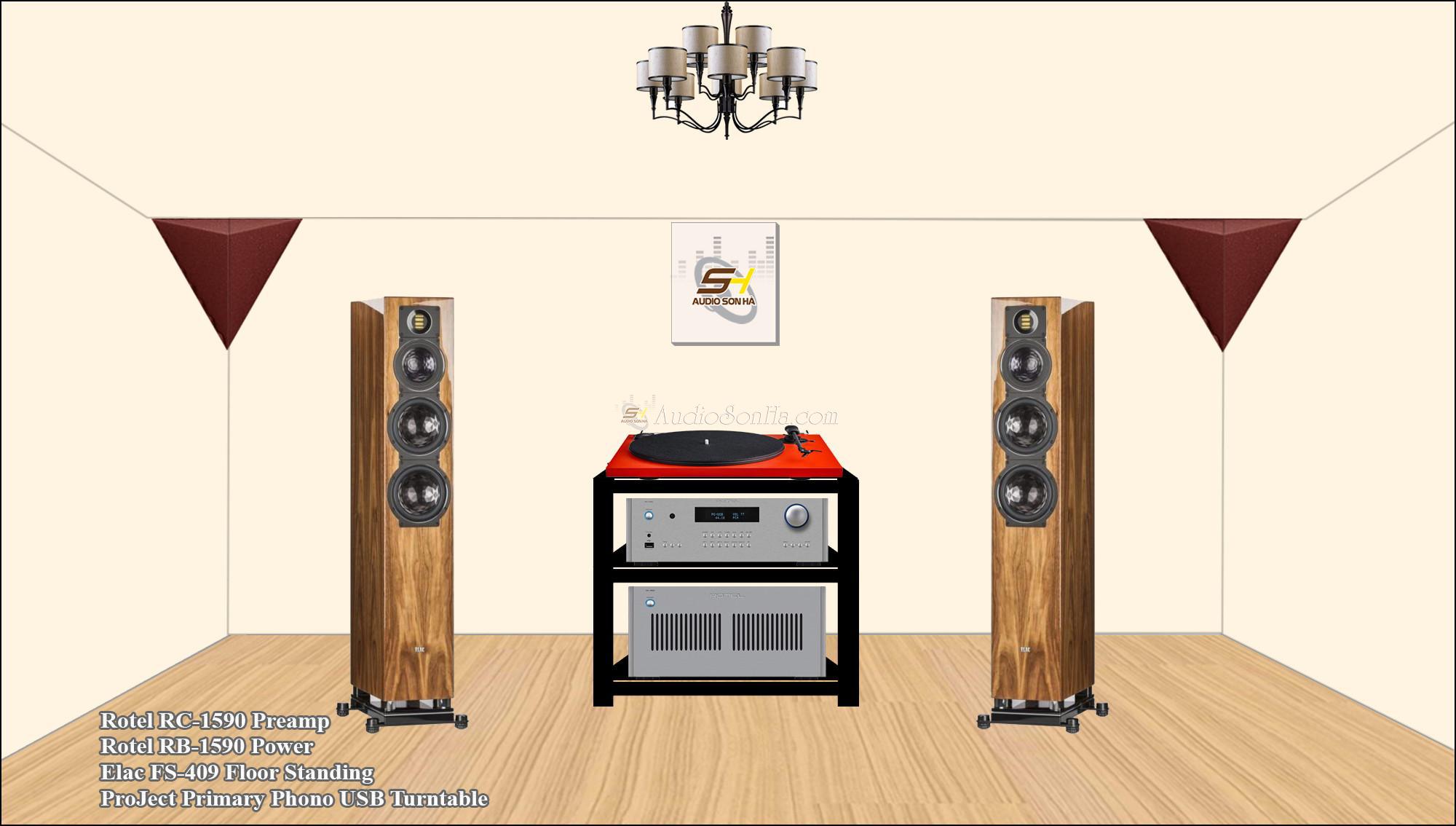 Hệ thống nghe nhạc Elac & Rotel