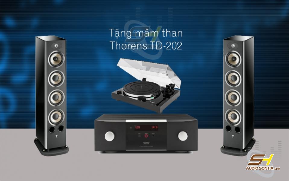 Hệ thống nghe nhạc Focal 936 & Mark Levinson No5802