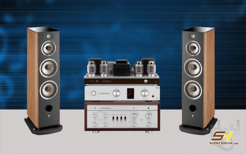 Hệ thống nghe nhạc Hi End loa Focal Aria 948 và Luxman CL-38uC + MQ-88uC