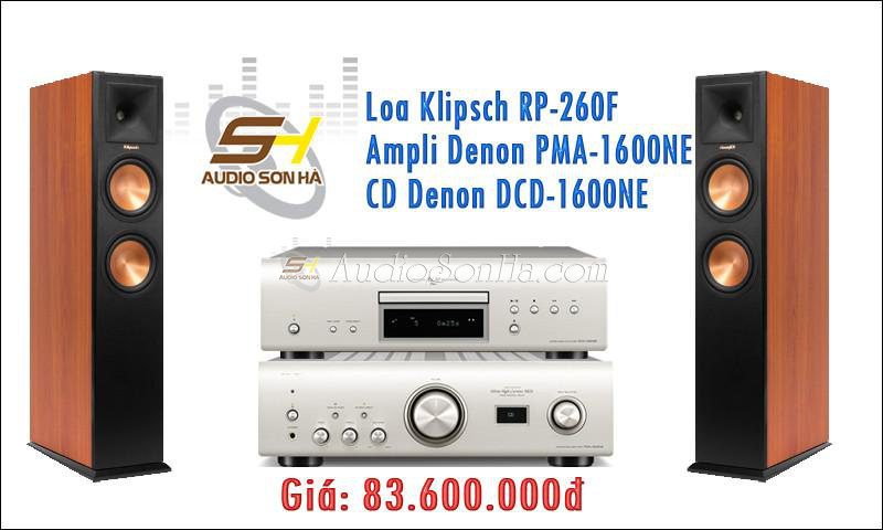 Hệ thống nghe nhạc Klipsch + Denon