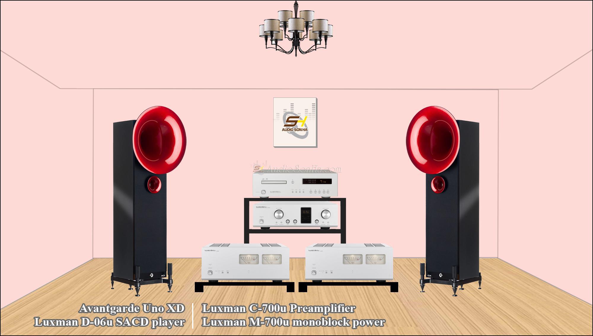 Hệ thống nghe nhạc Luxman & Avantgarde Uno XD