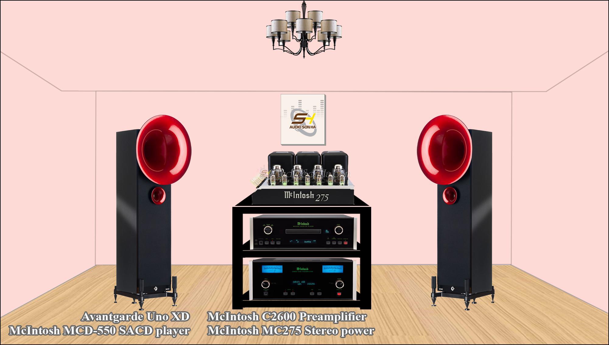 Hệ thống nghe nhạc McIntosh & Avantgarde Uno XD