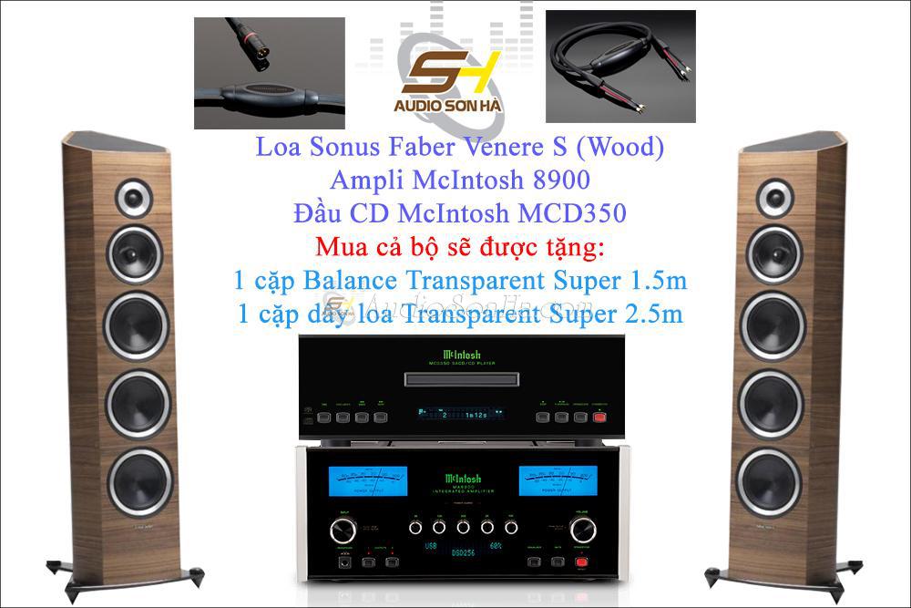 Hệ thống nghe nhạc McIntosh và Sonus Faber