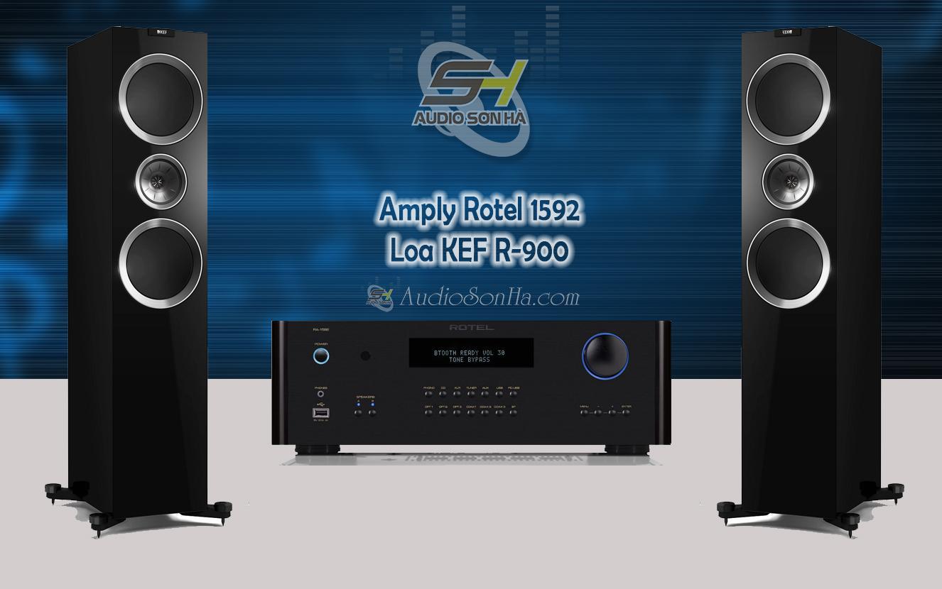 Hệ thống nghe nhạc Rotel & KEF R900 /
