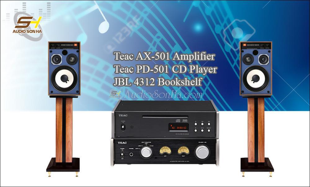 Hệ thống nghe nhạc Teac + JBL 4312M