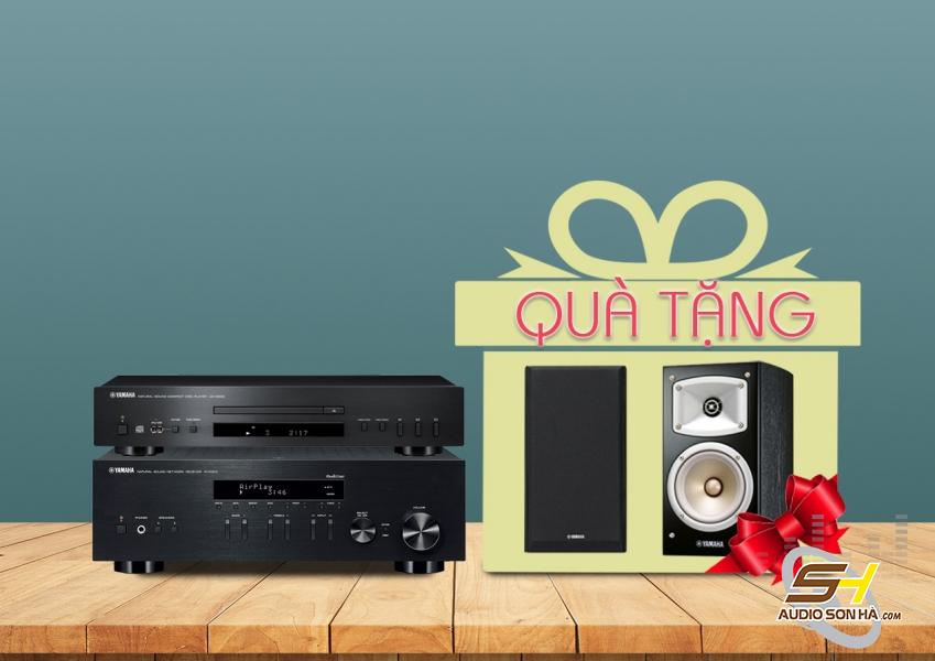 Hệ thống nghe nhạc Yamaha R-N303 và CD-S300