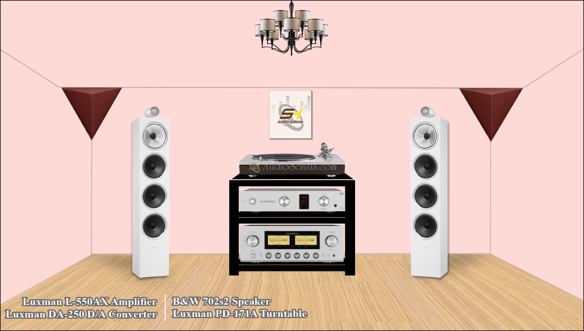 Luxman L-550AX và B&W 702s2
