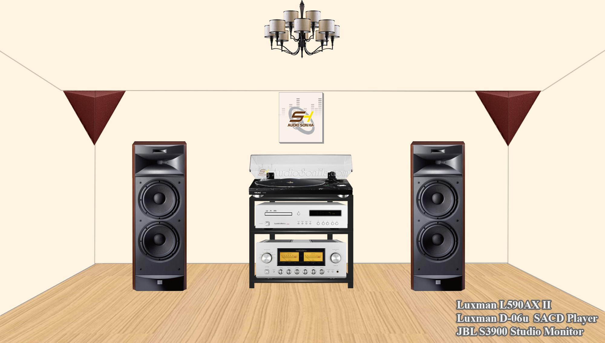 Hệ thống nghe nhạc JBL S3900 & Luxman